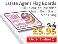 estate agent flag boards, buy online