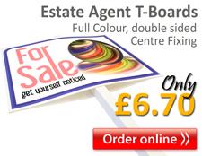 estate agent T boards, great deals online
